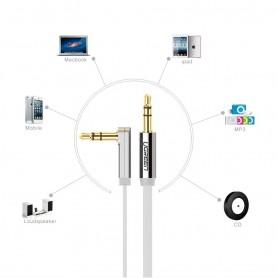 UGREEN, Premium 3.5mm haaks audiokabel Ultra Plat, Audio kabels, UG259-CB, EtronixCenter.com