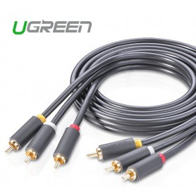 UGREEN - 3 RCA to 3 RCA Audio Cable Male to Male Aux Cable - Audio kabels - UG178 www.NedRo.nl