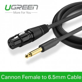 UGREEN, Cannon Cable XLR Female to 6.35mm Audio Male, Audio cables, UG225-CB