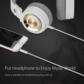 UGREEN, 3.5mm Male-Male Audio Jack Ultra Plat kabel, Audio kabels, UG254-CB, EtronixCenter.com