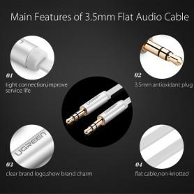 UGREEN - 3.5mm Male-Male Audio Jack Ultra Plat kabel - Audio kabels - UG247 www.NedRo.nl
