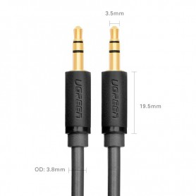 UGREEN - 3.5mm male to male Audio Jack cable Professional - Audio cables - UG291-CB www.NedRo.us