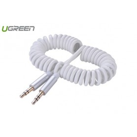 UGREEN - 3.5mm Male to Male Stereo Audio Coiled Cable - Audio cables - UG264-CB www.NedRo.us