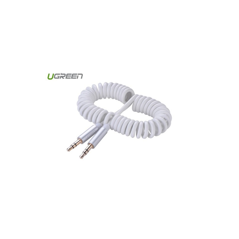 UGREEN - 3.5mm Male to Male Stereo Audio Coiled Cable - Cabluri audio - UG265 www.NedRo.ro