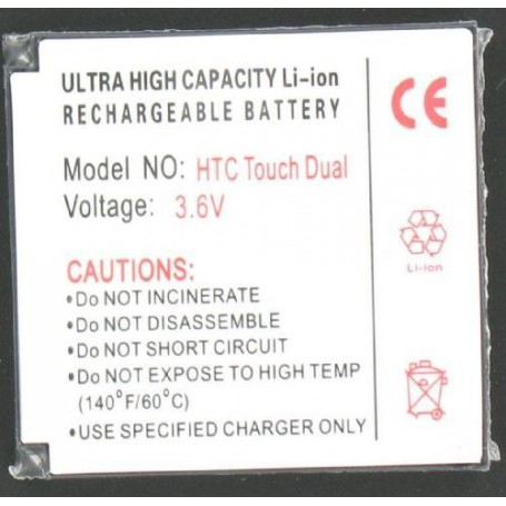 NedRo - Accu Batterij Voor De HTC Touch Dual Li-Ion Slim P024 - HTC telefoonaccu's - P024 www.NedRo.nl