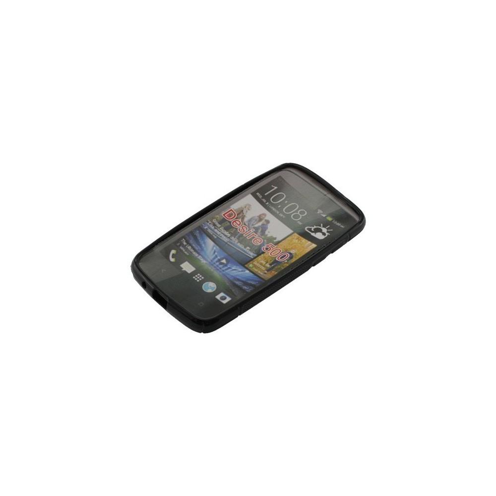 OTB - TPU Case voor HTC Desire 500 Zwart ON627 - HTC telefoonhoesjes - ON627 www.NedRo.nl
