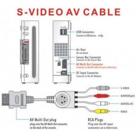 NedRo, S-Video + AV tulp comp. kabel voor Nintendo Wii 1.8m YGN576, Nintendo Wii, YGN576, EtronixCenter.com