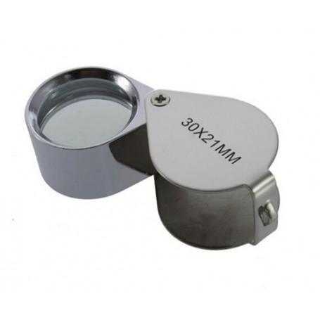NedRo - 30x-zoom Silver Mini Jewelry Loupe Magnifier Glass - Magnifiers microscopes - AL073