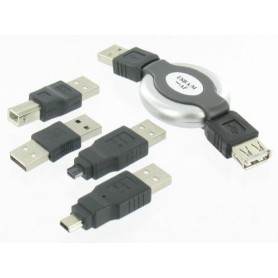Unbranded - 5 Delige USB Set voor Notebook PC PDA GSM MP3 Camera - USB adapters - YPU003-C www.NedRo.nl