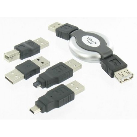 Unbranded, 5 Delige USB Set voor Notebook PC PDA GSM MP3 Camera, USB adapters, YPU003, EtronixCenter.com
