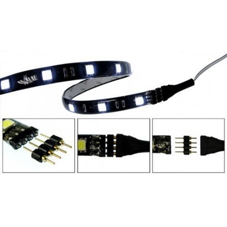 NedRo - 10x 4pin M-M 5050 RGB LED Strip Connector Solderless - LED connectors - AL074 www.NedRo.nl