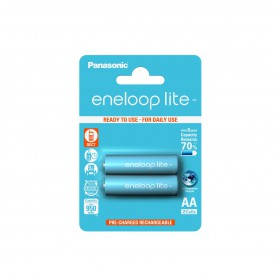 Panasonic - AA R6 Panasonic Eneloop Lite Oplaadbare Batterijen - AA formaat - NK036 www.NedRo.nl