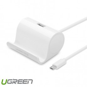 UGREEN, Micro USB OTG Cable Adapter with Cradle 50cm, Cabluri USB la Micro USB, UG242-CB, EtronixCenter.com