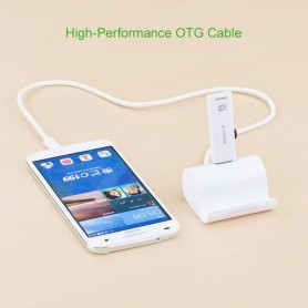 UGREEN, Micro USB OTG Cable Adapter with Cradle 50cm, USB to Micro USB cables, UG242-CB, EtronixCenter.com