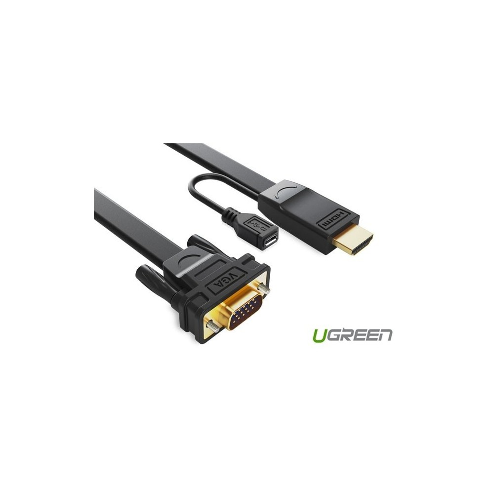 HDMI to VGA converter flat cable with Chipset in HDMI