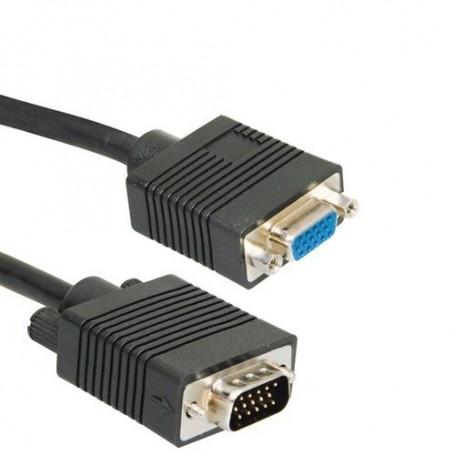NedRo - VGA Verleng Kabel Male naar Female - VGA kabels - YPC002-CB www.NedRo.nl