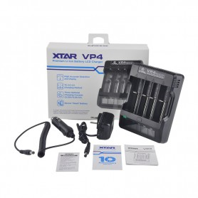 XTAR - XTAR VP4 IMR Lithium battery charger EU PLug - Battery chargers - NK023-C www.NedRo.us