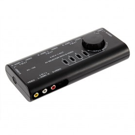 NedRo - 4 Way Out AV RCA Switch Box AV Audio Video - Audio adapters - AL521 www.NedRo.us