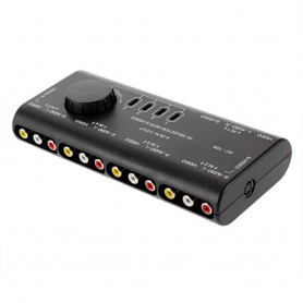 NedRo, 4 Way Out AV RCA Switch Box AV Audio Video, Adaptoare audio, AL521, EtronixCenter.com