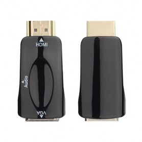 NedRo, Convertor Adaptor HDMI la VGA + audio, HDMI adaptoare, AL969-CB, EtronixCenter.com