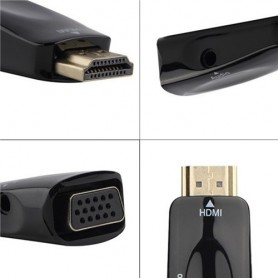 NedRo - HDMI naar VGA + audio omvormer converter adapter - HDMI adapters - AL969-C-CB www.NedRo.nl