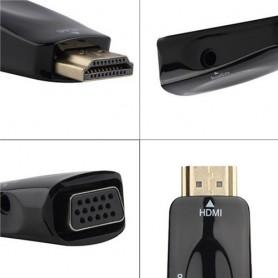 NedRo - Convertor Adaptor HDMI la VGA + audio - HDMI adaptoare - AL969-CB www.NedRo.ro