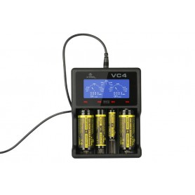XTAR - XTAR VC4 Ni-MH and Li-ion USB battery charger EU Plug - Battery chargers - NK024-C www.NedRo.us