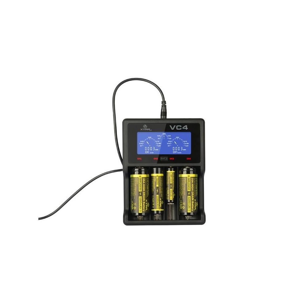 XTAR - XTAR VC4 Ni-MH and Li-ion USB batterij-oplader - Batterijladers - NK024-C www.NedRo.nl