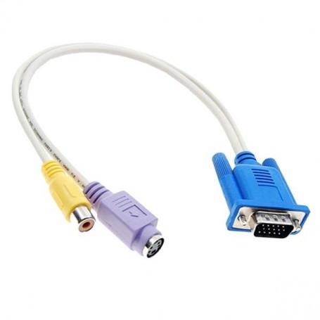 VGA naar S-video en Tulp Adapter Kabel YPC211