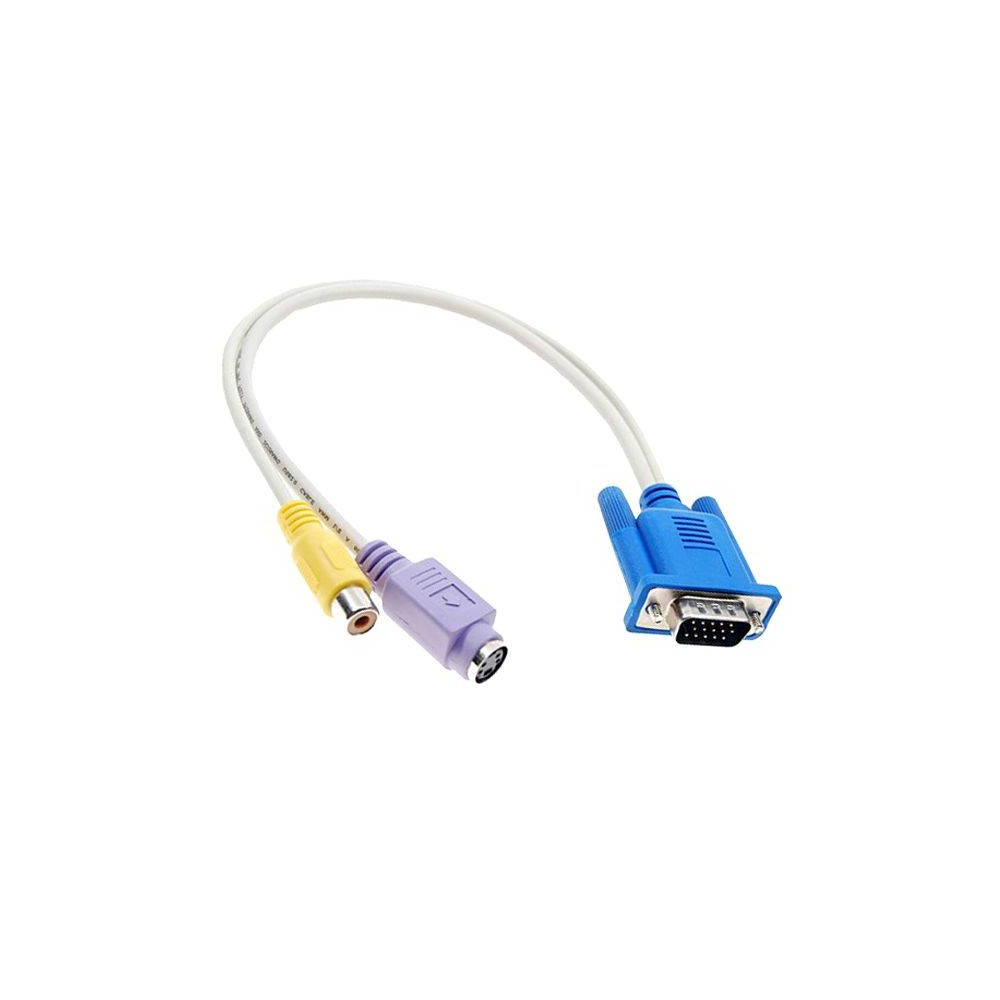 NedRo - VGA naar S-video en Tulp Adapter Kabel YPC211 - VGA adapters - YPC211 www.NedRo.nl