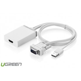 UGREEN - VGA+USB to HDMI Converter Adapter - HDMI adaptoare - UG101-CB www.NedRo.ro