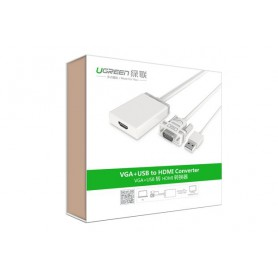 UGREEN - VGA+USB to HDMI Converter Adapter - HDMI adapters - UG101-CB www.NedRo.nl