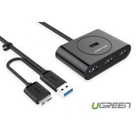 UGREEN - USB 3.0 HUB 4 port with OTG Function - Porturi si huburi - UG129 www.NedRo.ro