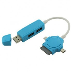 NedRo, Duo USB Hub met Micro USB Mini USB Dock, Ports en Hubs, ON086-CB, EtronixCenter.com