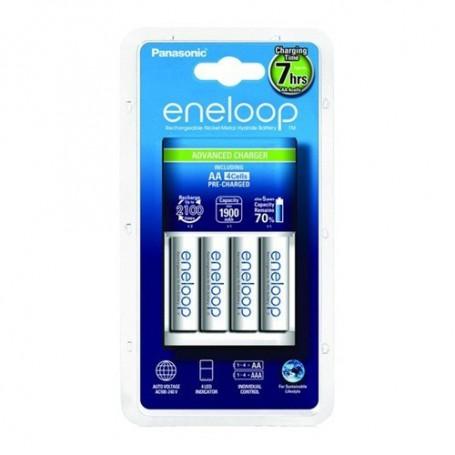 Panasonic - 7h Panasonic eneloop Charging Station EU +4AA batteries BQ-CC17 - Battery chargers - NK012