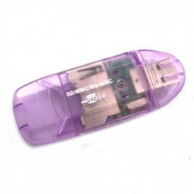 NedRo - New USB 2.0 MMC SD SDHC Memory Card Reader-Writer - SD and USB Memory - WWCV191PU www.NedRo.us
