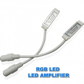 NedRo, DC12V 24V Mini RGB Led Amplifier Signal Female DC Connector, LED Accessories, LCR52, EtronixCenter.com