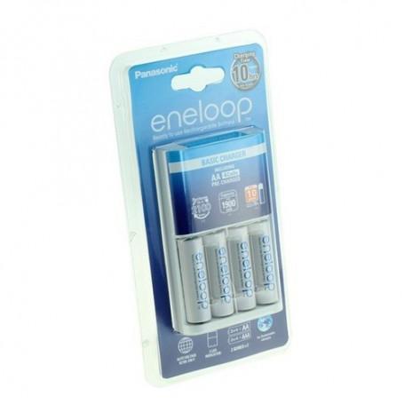 Panasonic - 10h Panasonic Eneloop BQ-CC51 Charger + 4AA batteries - Battery chargers - NK009 www.NedRo.us