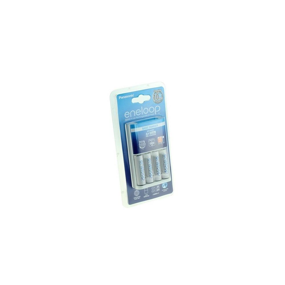 Panasonic - Incarcator + Baterii AA Panasonic Eneloop 10h BQ-CC51 - Încărcătoare de baterii - NK009 www.NedRo.ro