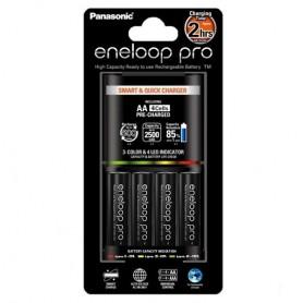 Panasonic - Incarcator + 4 Baterii AA Eneloop PRO 2h BQ-CC55E - Încărcătoare de baterii - NK008-C www.NedRo.ro
