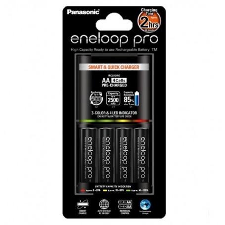 Panasonic - 2h Eneloop PRO BQ-CC55E Oplaadstation + 4AA batterijen - Batterijladers - NK008 www.NedRo.nl