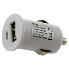 OTB - Auto Lader Adapter USB 1A - Aanstekerplugs - ON1598 www.NedRo.nl