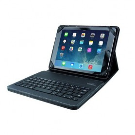 OTB, Black Leather Case for iPad 1/ 2/ 3/ 4/ iPad Air incl. keyboard ON1798, iPad and Tablets covers, ON1798, EtronixCenter.com
