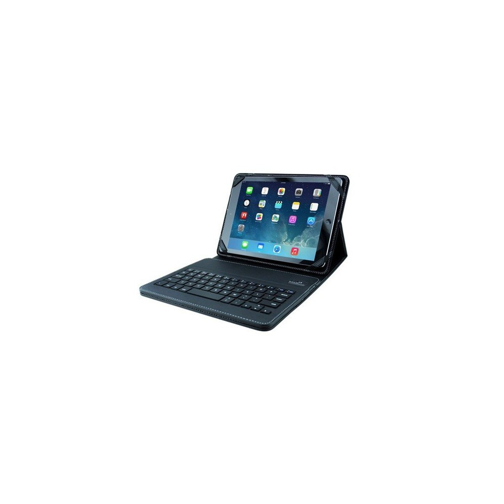 Black Leather Case for iPad 1/ 2/ 3/ 4/ iPad Air incl. keyboard ON1798
