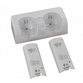 Dual Charger Station Dock + 2 2800mAh Battery for Wii