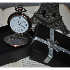 Unbranded, Parijs Eiffeltoren Kwarts Horloge Ketting Zakhorloge ZN060, Quartz, ZN060, EtronixCenter.com