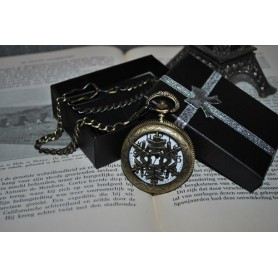 NedRo, Ice Hollow Vintage Bronze Quartz Pocket Watch, Quartz, ZN061, EtronixCenter.com
