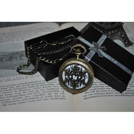 NedRo - Ice Hollow Vintage Bronze Quartz Pocket Watch - Quartz - ZN061 www.NedRo.us