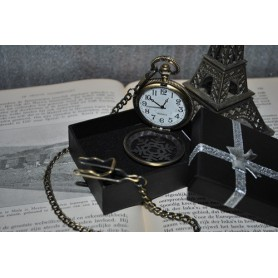 NedRo - Ice Hollow Vintage Bronze Quartz Pocket Watch ZN061 - Quartz - ZN061 www.NedRo.us