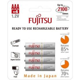 Fujitsu - Fujitsu AAA R3 HR-4UTC 800mAh Rechargeable Batteries - Size AAA - BL213-10x www.NedRo.us